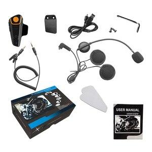 Image 5 - Waterproof BT S2 Multi BT Interphone 1000M Motorcycle Bluetooth Helmet Intercom Intercomunicador Moto Interfones Headset FM MP3