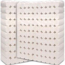 100 rolls / pack hotel a conduzione familiare salute 4 strati di carta igienica da bagno tessuto di carta igienica rotoli di carta pacchetto di documenti di tabacco