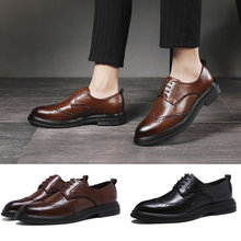 Handgemachte Mikrofaser Leder Männer Oxfords Lace Up 2019 Geschnitzt Geschäfts Männer Formale Schuhe, Männer Kleid Schuhe
