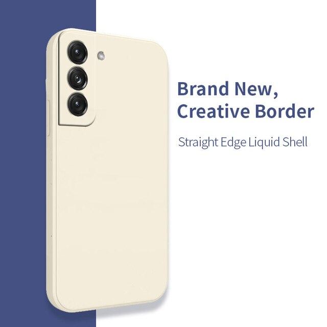 Original Liquid Silicone Case For Samsung Galaxy A51 A71 S21 S8 S9 S10 Plus A50 A52 A72 A31 A21S A41 M31 M30S Shockproof Cover 5