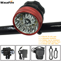 WasaFire 2 в 1 велосипедный головной светильник 30000lm 13x T6 светодиодный велосипедный светильник водонепроницаемый ультра яркий велосипедный пере...