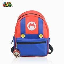 Mochila Unisex de Super Mary de dibujos animados para niños, morral escolar de ocio para guardería, regalo para niños, dibujo de Mario