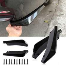 2pcs universal car rear bumper lip diffuser splitter spoiler