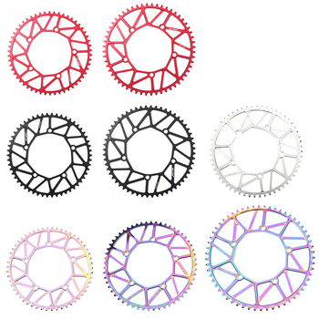 130 BCD 9/10/11/12 Speed Hollow CNC Alloy Single Disc Chainwheel Road Folding Bike Chain Wheel 54/56/58T Chainring for Brompton image