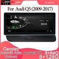 Android 10 Автомобильный мультимедийный DVD стерео радио плеер GPS навигация Carplay авто для Audi Q5(2009-2017)2din 2G система