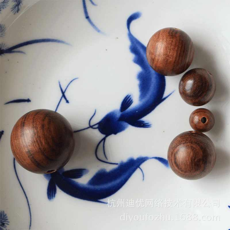 Оптовые продажи от производителя круглые бусины из черного розового дерева