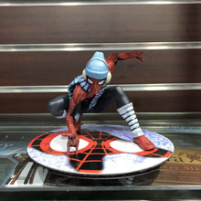 12cm Anime Figure Spider-Man Winter Suit Action Figure Model Toys For Boy Gift цена 2017