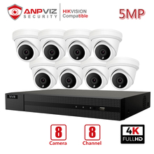 Anpviz 8CH 4K NVR 5MP POE IP Cameras Home/Outdoor Security Systems Kits H.265 ONVIF Network CCTV Video Surveillance NVR Kits