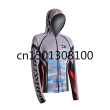 2020 Fishing suit male outdoor ice silk sunscreen clothing summer fishing quick-drying anti-mosquito fishing suit hiking shirt(China)