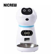 NICREW автоматическая кормушка для кошек и собак, дозатор для еды, автоматическая кормушка для собак кошек, поилка, запись голоса, ЖК-экран, миски для сухих продуктов