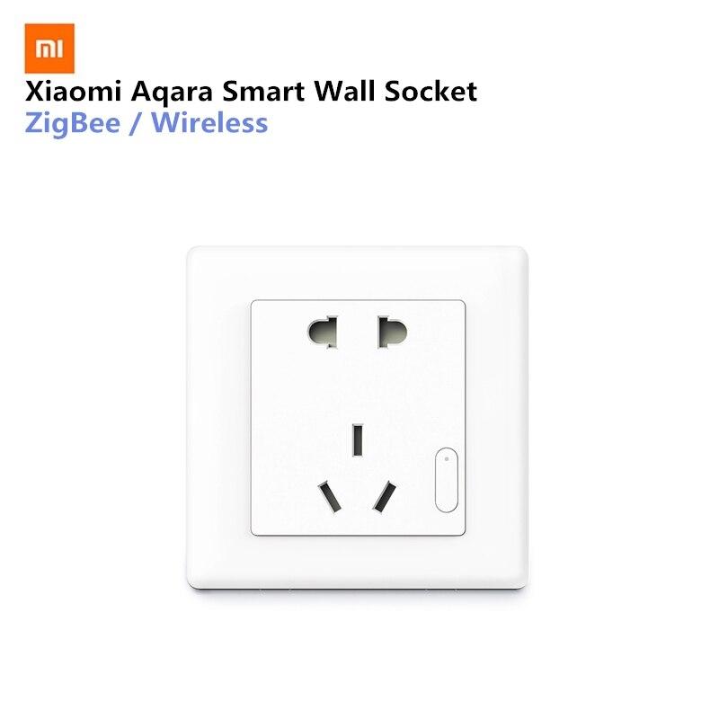 Aqara inteligente tomada de parede zigbee mijia interruptor parede sem fio trabalho para kits casa inteligente app