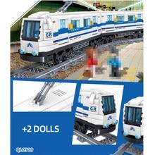 Série de tecnologia ciência trem de alta velocidade boy puzzle montagem blocos de construção brinquedos para crianças presentes adultos