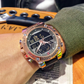 NAVIFORCE часы мужские Топ люксовый бренд кожа водонепроницаемые спортивные мужские кварцевые аналоговые часы цифровые часы мужские Relogio Masculino