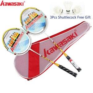 Ракетка для бадминтона Kawasaki, рама из алюминиевого сплава, ракетка для бадминтона со струной до-0162, со свободным Волан