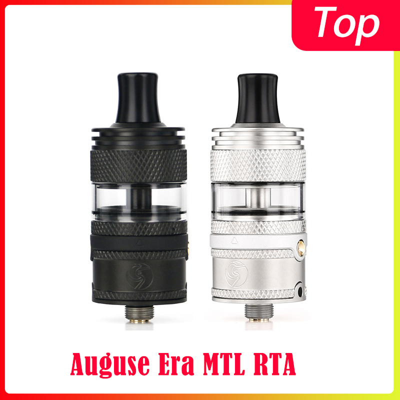 In Stock!! Auguse Era MTL RTA With 22mm Diameter And 3ml Capacity Atomizer For 510 Thread Mod Vs Zeus X RTA