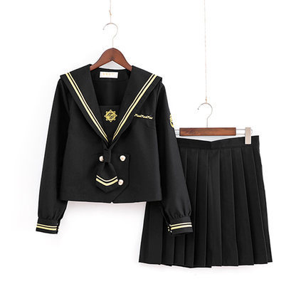 School Dresses Large-Size S-5XL Anime Form Japanese Middle High School British Style Jk Uniform Pleated Skirt Sailor Suit Girls