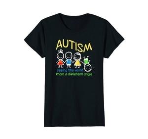 Gorąca sprzedaż letni styl widząc świat pod innym kątem koszulka z autyzmem T-Shirt