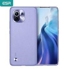 ESR Skin Friendly Case for Xiaomi 11 Plain Leather Back Cover for Mi 11 Slim and Light Smooth Business Case for Xiaomi 11