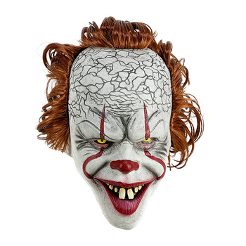 Stephen King's It Mask Pennywise Horror Clown Joker Mask Clown Mask Halloween Cosplay Costume Props 1