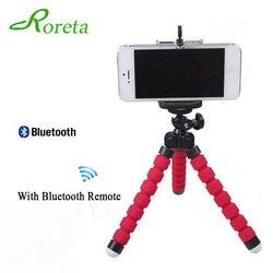 Roreta esponja flexível polvo tripé para iphone bluetooth remoto do obturador mini suporte de mesa tripé suporte do telefone
