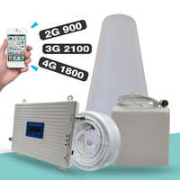 Amplificador de señal tribanda 2G 3G 4G GSM 900 + DCS/LTE 1800 (Banda 3) + UMTS/WCDMA 2100 (banda 1) repetidor de señal móvil amplificador celular