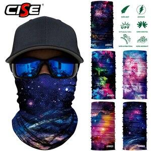 Image 2 - 3D бесшовная Галактическая Балаклава, волшебная маска для лица, чехол, теплая мотоциклетная Лыжная повязка на шею, Байкерская велосипедная бандана, трубчатый шарф для мужчин и женщин