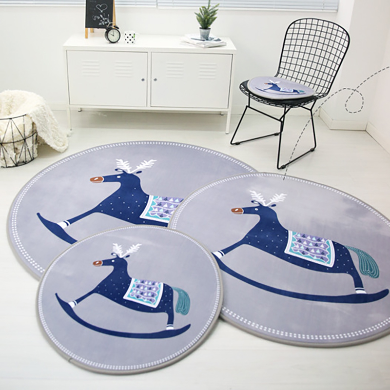 Simple Baby Crawling Developing Mat Carpet Play Mat Round Shape Toddler Thick Rug Baby Room Decor BXX021