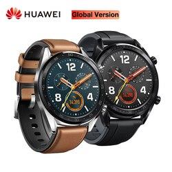 Globalna wersja HUAWEI inteligentny zegarek GT wodoodporne wsparcie śledzenia tętna NFC GPS człowiek Sport smartwatch tracker w Inteligentne zegarki od Elektronika użytkowa na