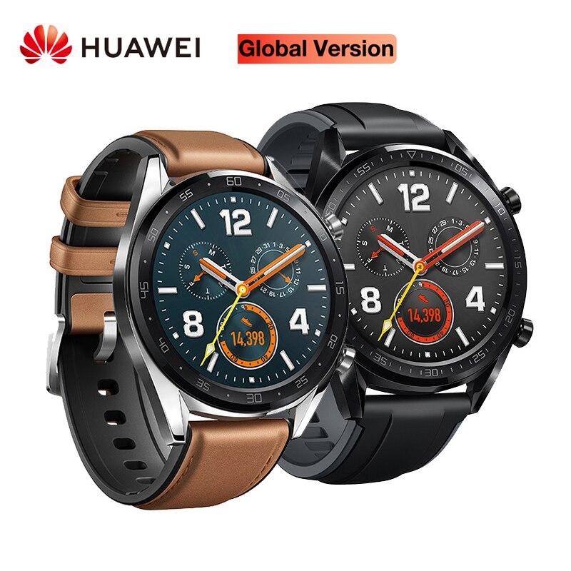 Version mondiale HUAWEI montre intelligente GT étanche traqueur de fréquence cardiaque soutien NFC GPS homme Sport Tracker SmartWatch