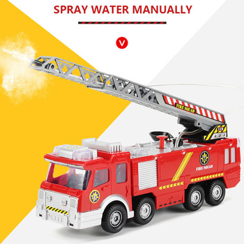 цена на New Style Water Spray Fire Engine Car Fire Truck Toys Children Educational Vehicle Toy For Boy Kids Christmas Gifts With Light