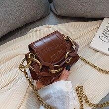 패션 미니 안장 여성 숄더 가방 디자이너 브랜드 아크릴 체인 핸드백 럭셔리 Pu 가죽 여성 Crossbody 가방 작은 지갑