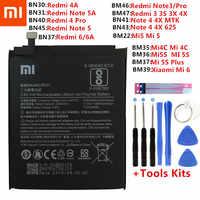 Xiao mi batterie téléphone d'origine pour Xiao mi rouge mi Note 4 4X3 3S 3X 4X 4A 3 pro 5 5A 6 6A Pro mi 4C mi 5X mi 5 mi 5 M5 mi 6 Batteries