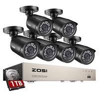 ZOSI H.265 + 8CH HD DVR Kit CCTV Sicherheit System 1080N DVR mit 6 stücke 2,0 mp 1080P Outdoor hause Kamera P2P Video Überwachung Set
