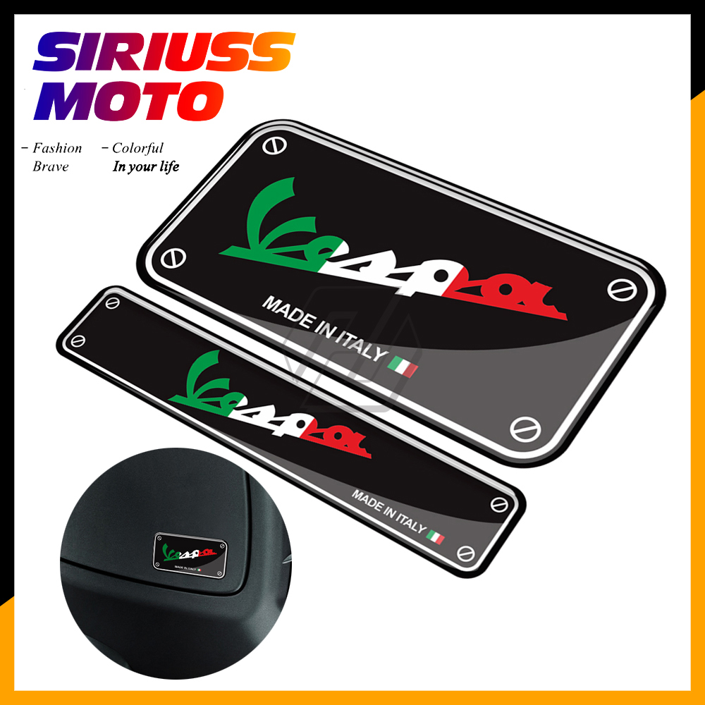3D Motorcycle Decal Made In Italy Sticker Case For Vespa GTS GTV LX Sprint Primavera 50 125 150 250 300 300ie Super Sport