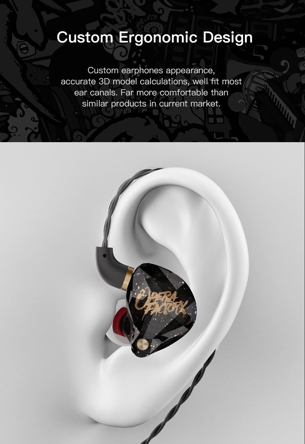 Novo operafactory os1 in-ear monitor dinâmico fone