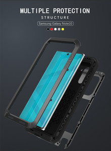 Image 5 - Original Love Mei Powerful Case For Samsung Galaxy Note 10 /Galaxy Note 10 Pro Shockproof Metal Aluminum Case Cover + Package