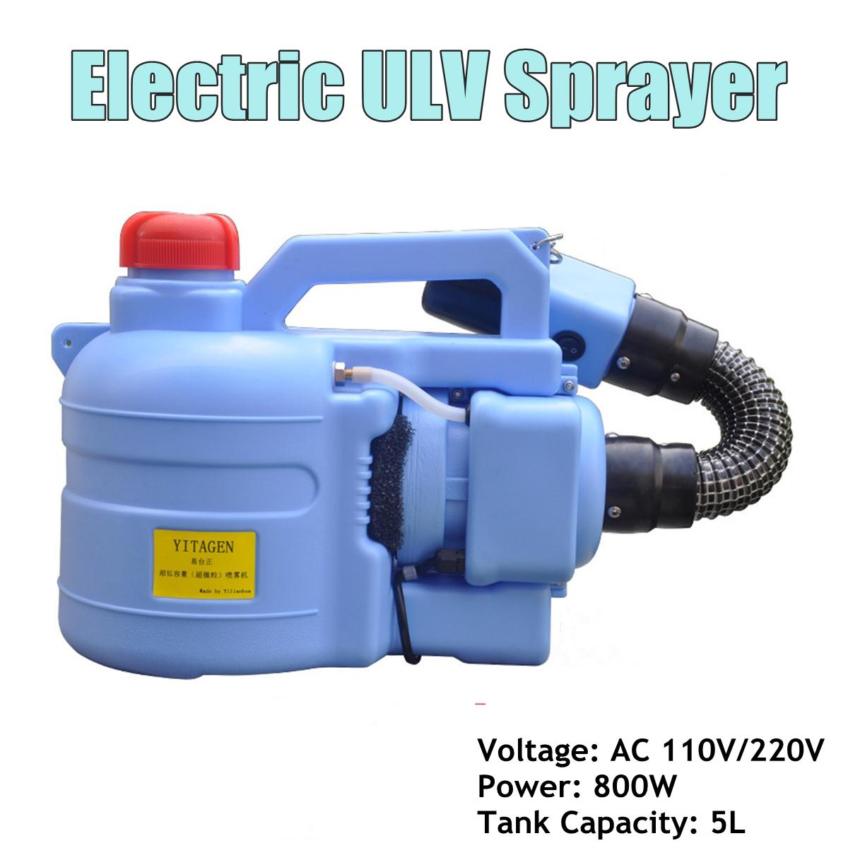 10V/220V 800W 5L Sprayer Mosquito Killer Disinfection Machine Insecticide Atomizer Fight Drugs Electric ULV Fogger Intelligent