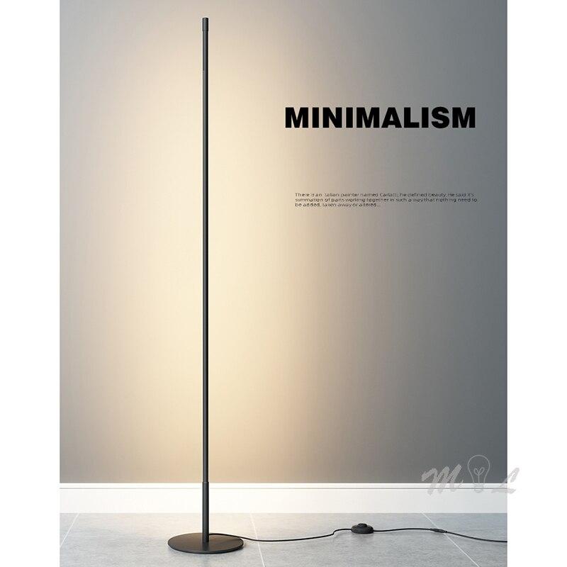 Modern Minimalist Strip Led Floor Lamp Warm White Dimmable Standing Lamp Home Deco Living Room Beside Lamp Stand 90-260V Light