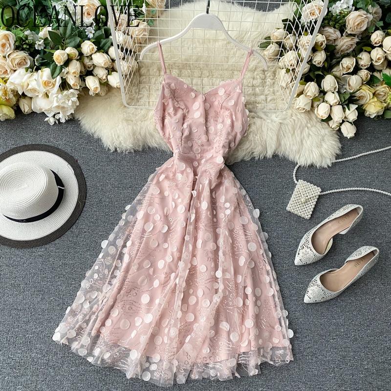 Женское вечернее платье с вышивкой OCEANLOVE, расшитое блестками, с высокой талией, на весну, для банкета, 15552