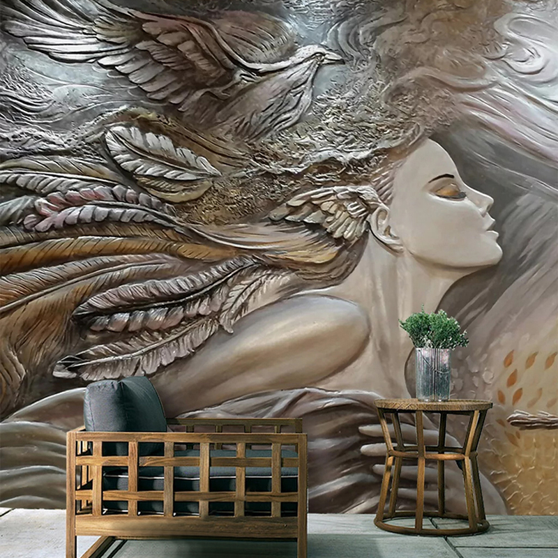 Custom 3D Photo Wallpaper Creative Embossed Beauty Peacock Wall Art Mural Bedroom Living Room Entrance Wall Painting Wallpapers|Wallpapers| |  - title=