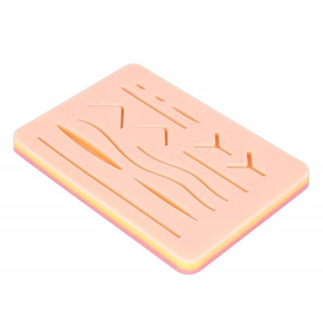 Kit di addestramento per sutura in Silicone con cuscinetto per la pelle ferita chirurgica per allenamento medico per chirurgia iniettore di pelle per pistola sterilica