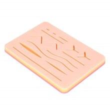 Kit de treinamento de sutura da almofada da pele do silicone ferida cirúrgica para o cirurgião treinamento de prática médica pistola traumática pele injector
