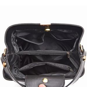 Image 4 - ZMQN Black Bucket Bags Women Crocodile Leather Crossbody Bags Luxury Handbags Ladies Hand Bags Shoulder 2020 Bolsa Feminina A583