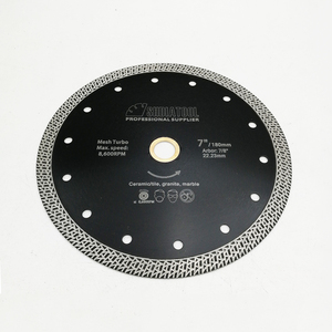 Image 4 - SHDIATOOL 1 шт., диаметр 180 мм/7 дюймов, горячепрессованный спеченный алмазный режущий диск, сетка, турбо алмазный пильный диск, гранит, мрамор, плитка, керамика