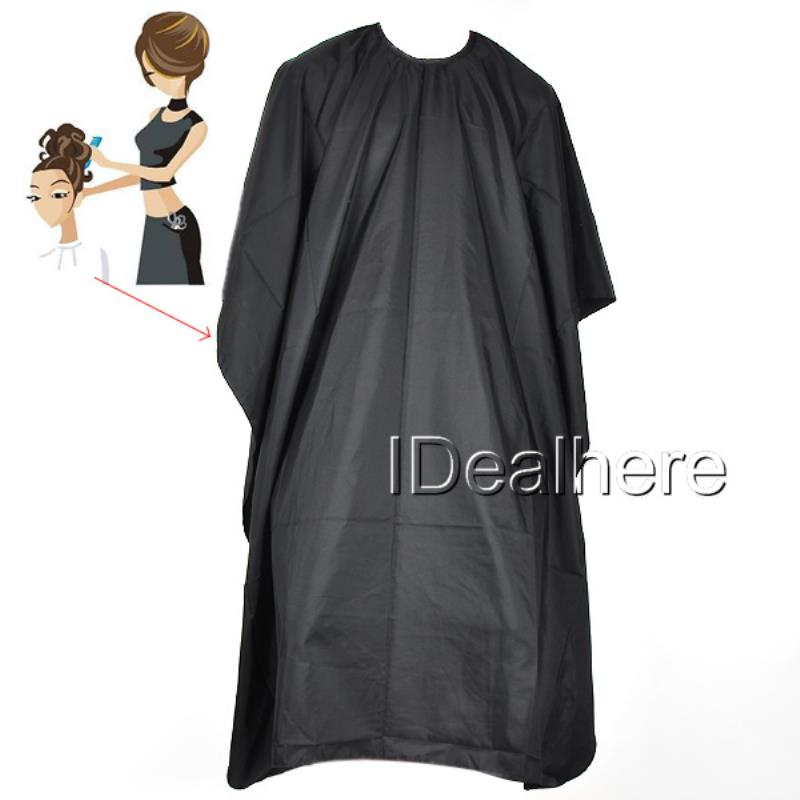 Shellhard 1pc Black Salon Barbers Hairdressing Cape 149*113cm Waterproof Hair Cutting Cloth Gown For Hair Cutting Styling Tools