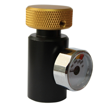 2pcs/Lot Co2 ASA Adapter Fill Station Remote On/Off with or without 3000psi Gauge