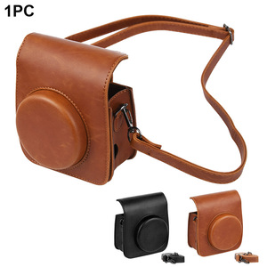 Image 2 - Protective Case Casual Pouch Accessories PU Leather Cover Dustproof Shoulder Strap Crossbody Mini Camera Bag For Instax Mini 90