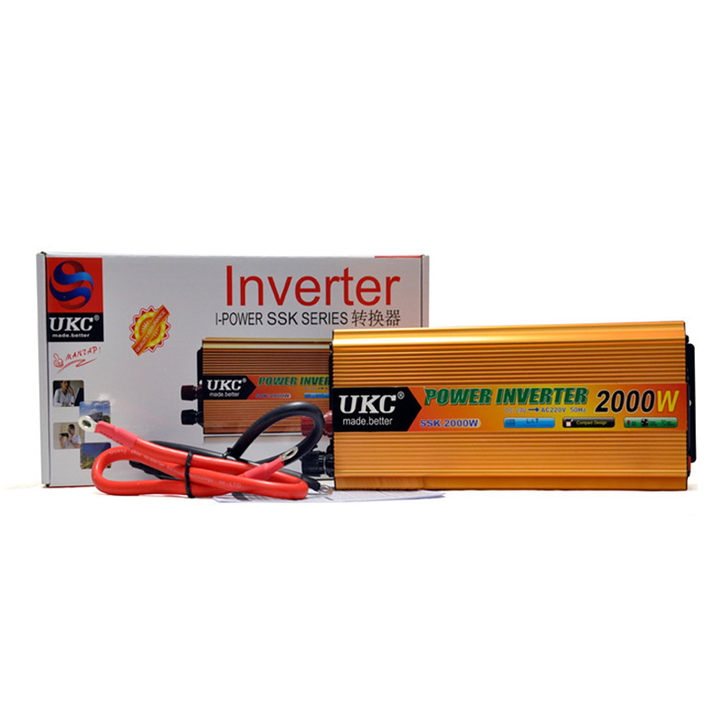 <font><b>24V</b></font> <font><b>220V</b></font> <font><b>2000W</b></font> Car <font><b>Inverter</b></font> Universal Plug Solar <font><b>Inverter</b></font> Transformer Converter Sine Wave Power Voltage Home <font><b>Inverter</b></font> image