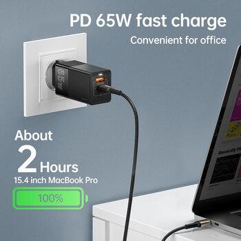 Устройство для быстрой зарядки KUULAA GaN, USB 4,0, 3,0, Type-C, 65 Вт