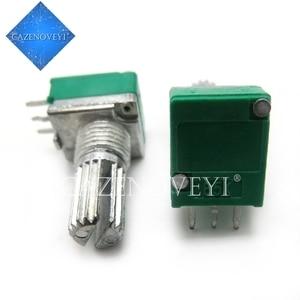 2pcs/lot RK097N 1K 5K 10K 20K 50K 100K 500K 250K B5K with a switch audio 3pin shaft 15mm amplifier sealing potentiometer